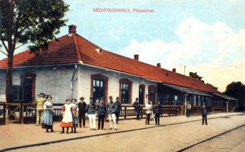 Kézdivásárhely:vasút állomás(pályaudvar).1913
