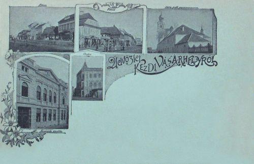 Kézdivásárhely:Nemzeti Szálloda,katolikus gimnázium,Posta.1898