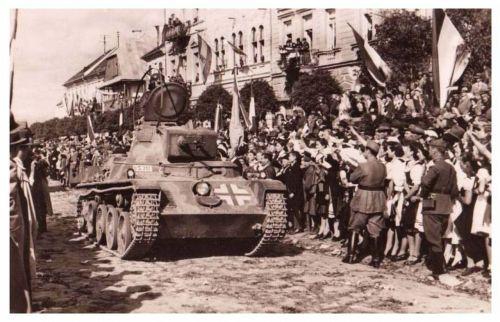Kézdivásárhely:magyar honvédek bevonulása.1940