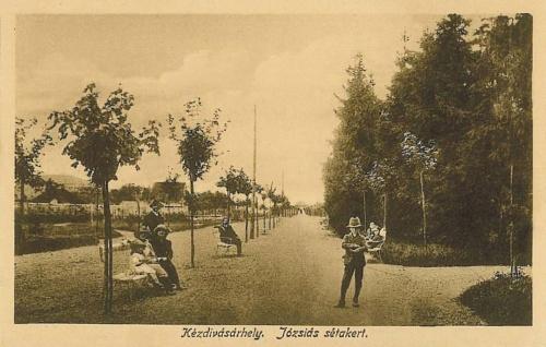 Kézdivásárhely:Józsiás sétakert.1917