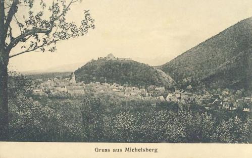 Kisdisznód:a település látképe.1907