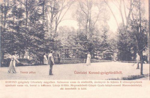 Korond-gyógyfürdő:tenisz pálya.1903