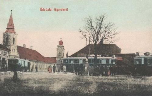 Gyorok:villamos megálló.1909