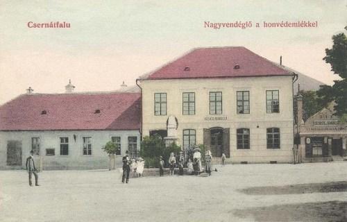 Csernátfalu:1848 honvédelmlék és Nagyvendéglő.1911