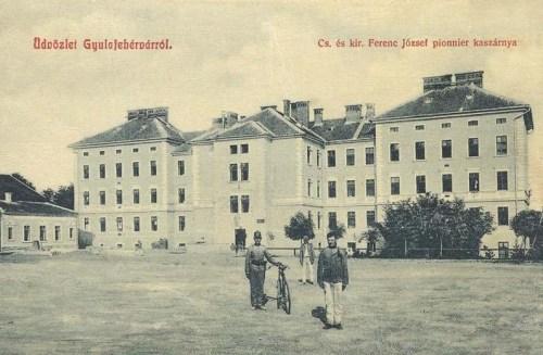Gyulafehérvár:császári és királyi Ferenc József pionir kaszárnya.1909