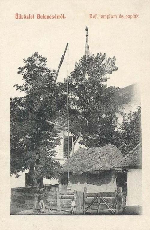 Balavásár:református templom és papilak.1910