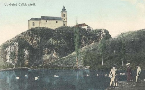 Csiklova:templom és tó.1912