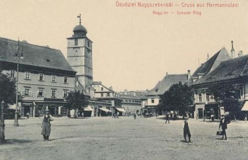Nagyszeben:Nagy tér.1908