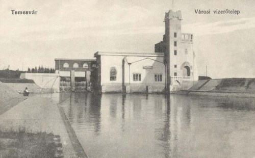 Temesvár:vizerőtelep (villanytelep) turbina.1914