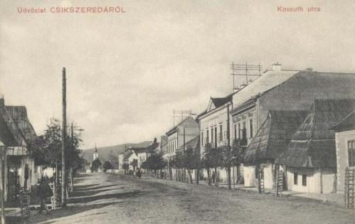 Csikszereda:Kossuth Lajos utca.1910