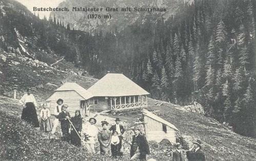 Bucsecs:menedékház a hegygerincen.(1578m).1912
