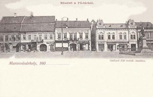 Marosvásárhely:főtér,jobbra Bem József tábornok szobra.1902