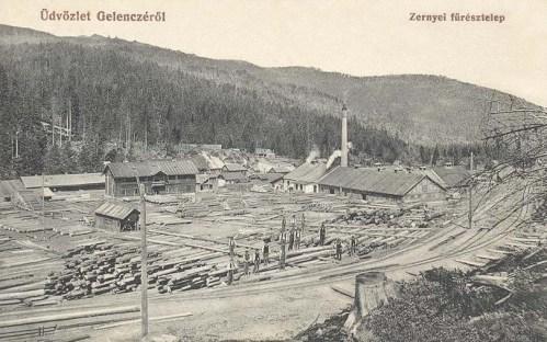 Gelencze:zernyei fűrésztelep.1912