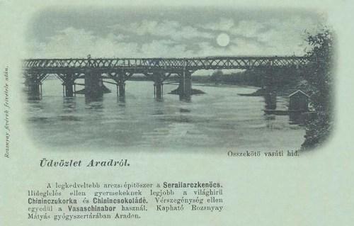 Arad:vasúti hid(gyógyszertár reklám).1899
