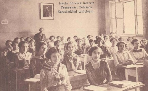 Temesvár:Iskola nővérek intézete:Kereskedelmi tanfolyam.1911