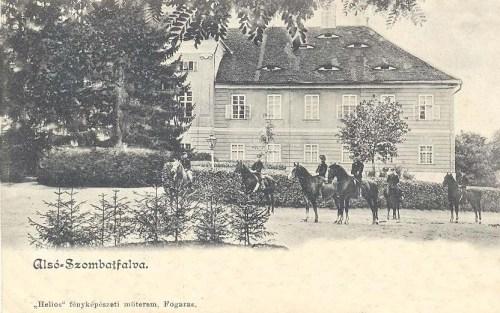 Alsó-Szombatfalva:kastély és lovarda,ménes.1902