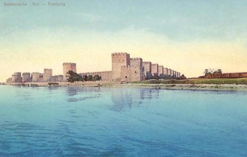 Semendria:vár a Duna parton.1915