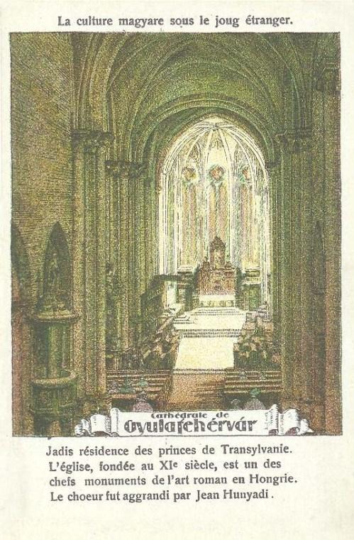 Gyulafehérvár:Székesegyház,Hunyadi János temetkezési helye.1920