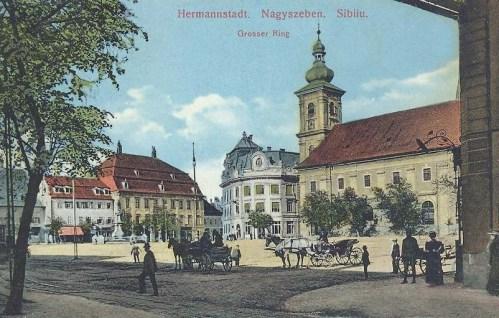 Nagyszeben:főtér.1915
