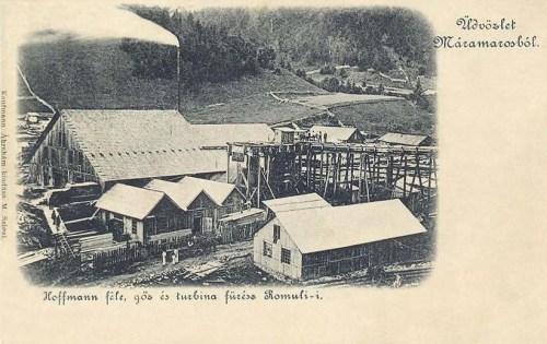 Máramaros:Hoffmann féle gőz és turbina fűrész telep.1901