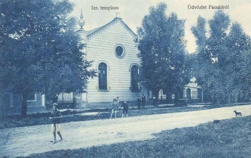 Facsád:izraelita templom.1912