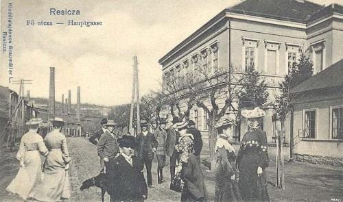Resica:fő utca.1903