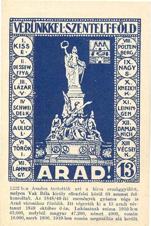 Arad:13 vértanú.1920