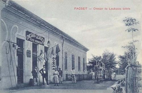 Facset:Onesan és Leukucza vegyeskerekedés üzlete.1909