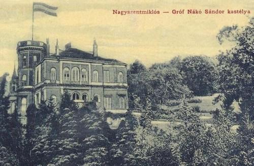 Nagyszentmiklós:gróf Nákó Sándor kastélya.1912