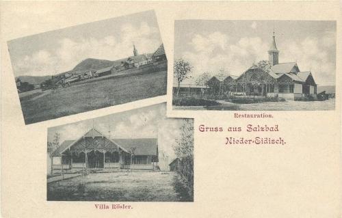 Alsóidecs-fürdő:vendéglő és Rösler villa.1904