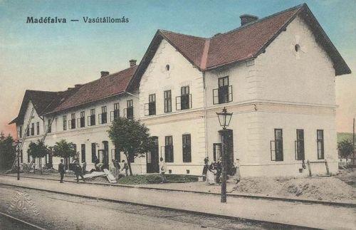 Madéfalva:vasútállomás.1912