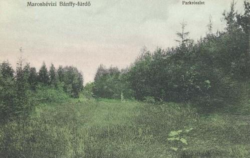 Maroshéviz:Bánffy fürdő,park részlet.1912