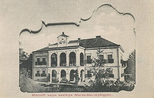 Marosvásárhely:Máriaffi Lajos kastélya.1902