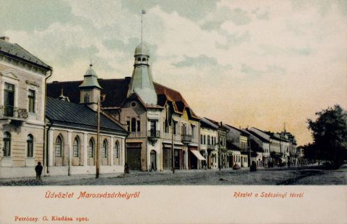 Marosvásárhely:balra az evangélikus lutheránus templom.1905