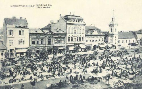 Marosvásárhely:Széchenyi tér vásár idején.1911