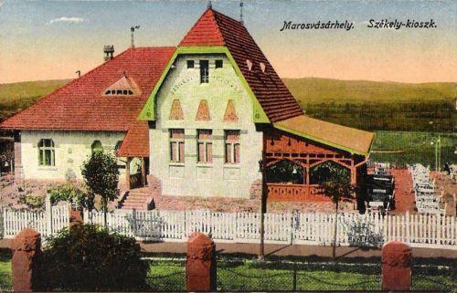 Székely kioszk a katonai alreáliskolával szemben,tulajdonos:Ender Imre.1916