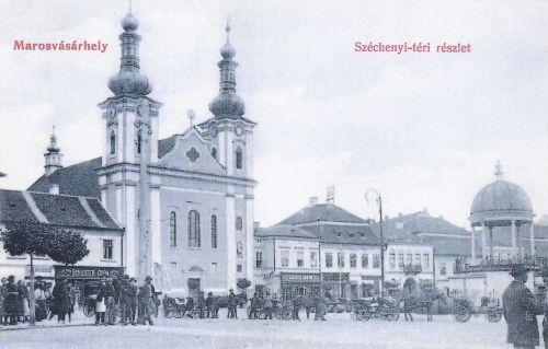 katolikus plébánia templom,búcsú körmenet idején.1908