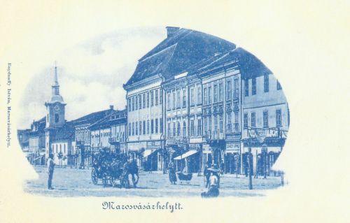Marosvásárhely:a sarkon Dudutz Gábor üzlete.1899