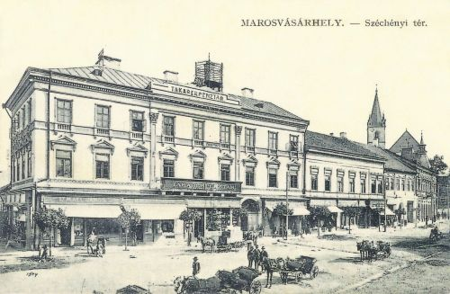 Marosvásárhely:Széchenyi tér,Takarékpénztár (Görög ház).1911