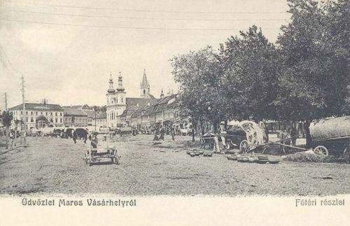 Marosvásárhely:főtéri részlet hetivásár idején.1904