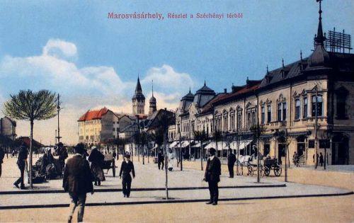 Marosvásárhely:részlet a Széchenyi térről.1915