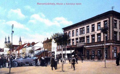 Marosvásárhely:automobil a Transilvánia Hotel előtt.1915