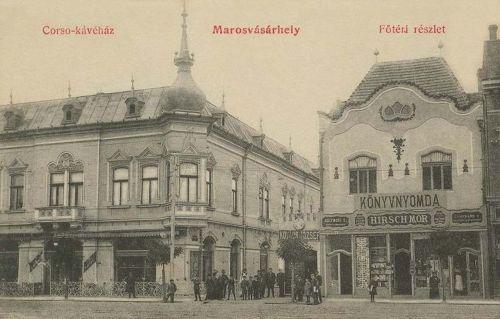 Marosvásárhely:Corso kávéház,könyvnyomda,könyvkereskedés.1910