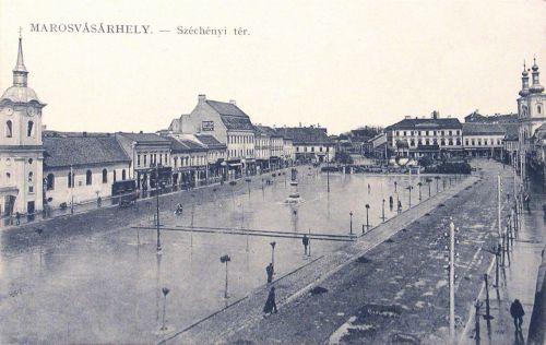 Marosvásárhely:főtér leasztfaltozvas.1913