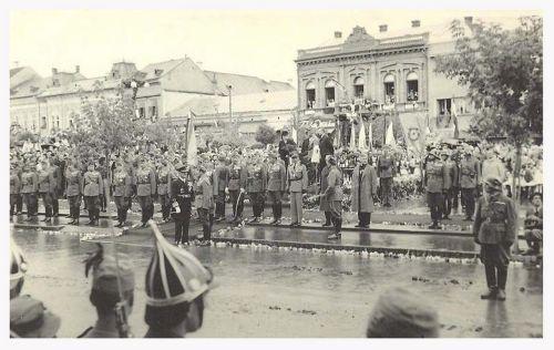 Marosvásárhely:Horthy Miklós fogadtatása.1940