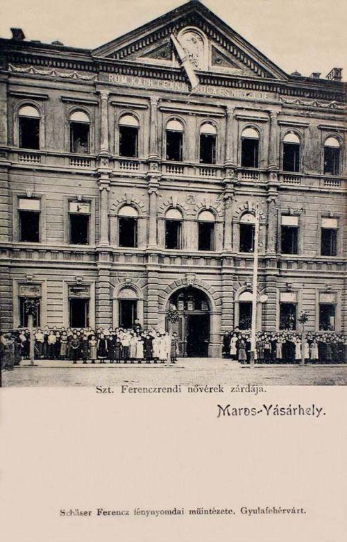 Marosvásárhely: szent Ferencrendi katolikus leányiskola.(zárda).1901