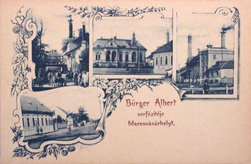 Marosvásárhely:sörgyár(serfőzde)és Arany Kakas vendéglő.1900