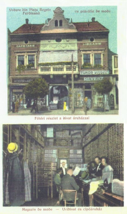 Marosvásárhely:Révész Béla papir és könyvkereskedése,divat üzlete.1926