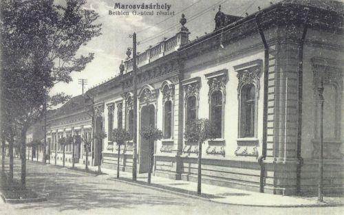 Marosvásárhely:Baros Gábor utca részlet.(ma Bulevárd).1916