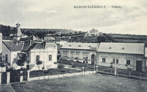 Marosvásárhely:látkép a katolikus gimnáziumtól a vizmű felé.1911